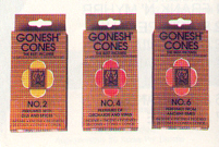 Gonesh Incense Cones sold by Southwest Candle Shoppe